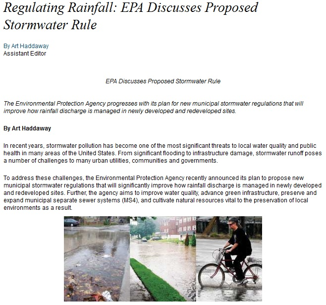 Regulating Rainfall