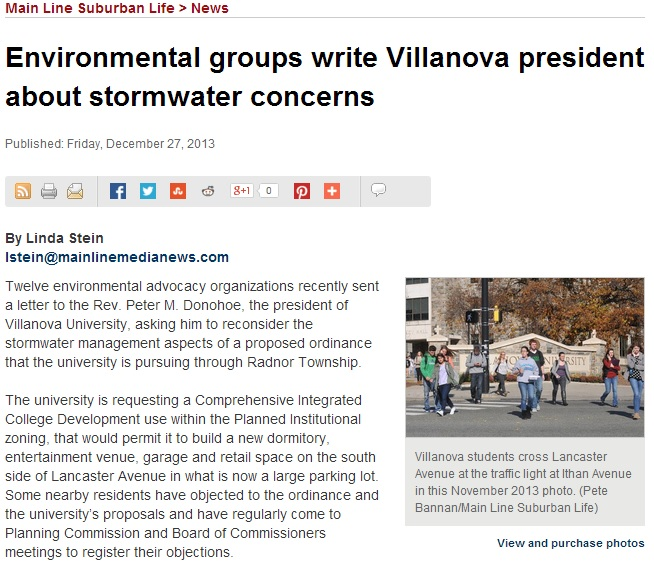 Stormwater Concerns